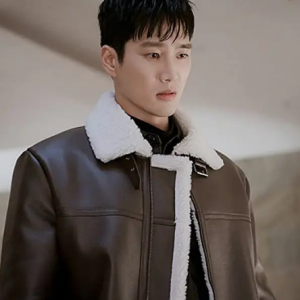 Itaewon Ahn Bo-Hyun Brown Shearling Coat