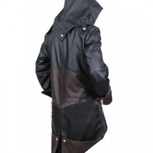 Black and Brown Denim Cloak Jacket