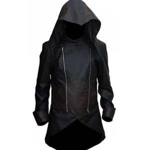 Denim Cloak Assassins Creed Unity Jacket
