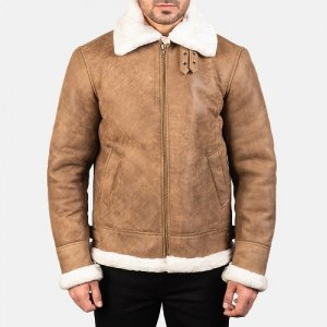 Distressed Brown Aviator B3 Jacket