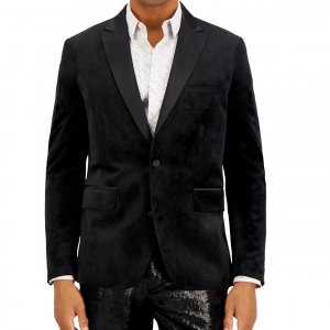 Black Velvet Blazer For Men