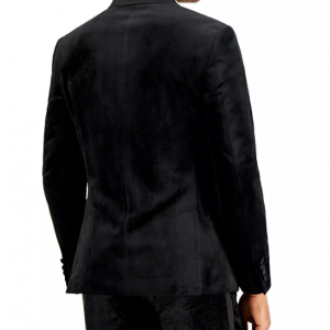 Mens Black Velvet Blazer