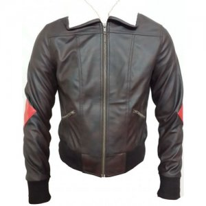 Womens Bombshell Harley Quinn Cosplay Leather Jacket