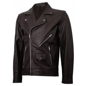Motorcycle Brown Leather Jacket