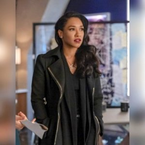 The Flash Season 06 E12 Iris West Allen Black Woolen Long Coat