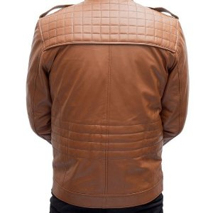 Men Chocolate Brown Leather Jacket