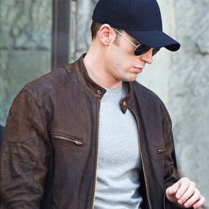Civil War Captain America Brown Jacket