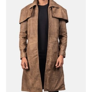 Classic Brown Duster Coat
