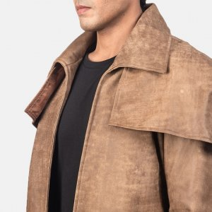 Brown Leather Duster Mens Coat