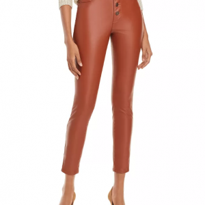 Cognac Daddy Soda Leather Pant