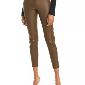 Dark Olive leather pant