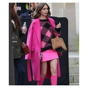 Lily Collins Emily in Paris Coat