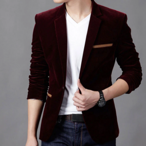 Essentail Maroon Blazer For Men