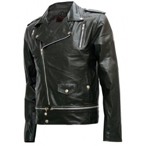 Saloman Black Leather Jacket