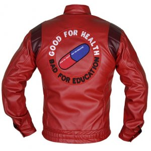 Akira Good For Health Bad For Education Red Jacket