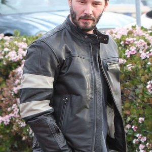 Keanu Reeves John Wick 2 Motorcycle Black Jacket