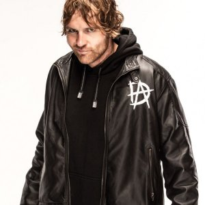 D A Logo Dean Ambrose Black Leather Jacket
