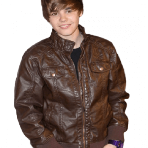 Brown Leather Justin Bieber Jacket
