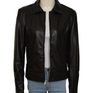 Chloe Decker Lucifer Black Leather Jacket