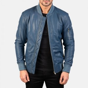 Blue Flight Jacket For Men