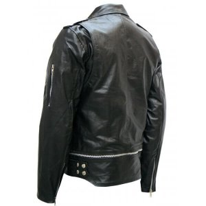 Black Leather Saloman Jacket For Men
