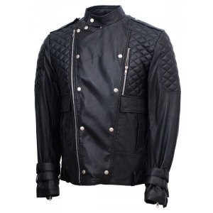 Motociclo Black Leather Jacket
