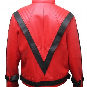 Michael Jackson Red Black Thriller Jacket