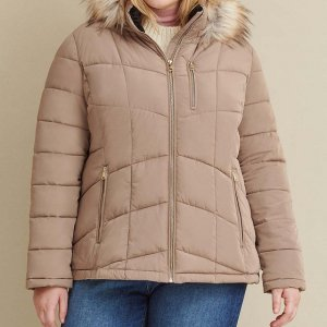 Plus Size Hooded Coat For Women