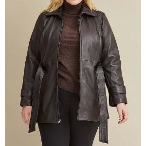 Plus Size Belted Jacket