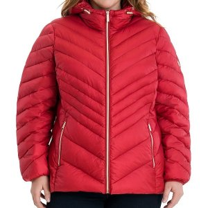 Plus Size Puffer Hooded Coat
