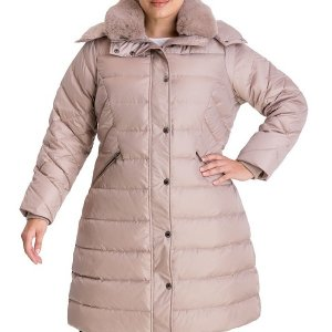 Plus Size Faux-Fur Collar Womens Coat