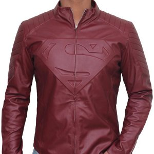 Smallville Superman Clark Kent Red Leather Jacket