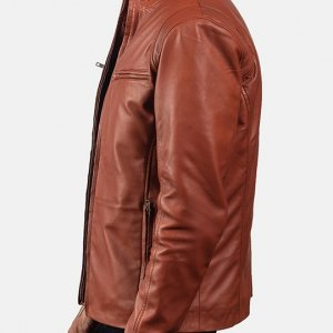 Biker Style Tan Brown Jacket