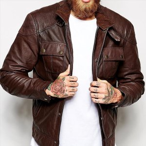 Mens Textured Moto Jacket