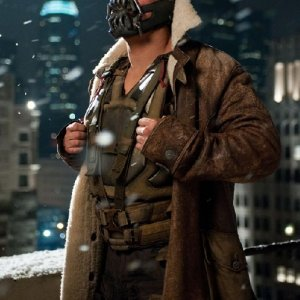 The Dark Knight Rises Tom Hardy Brown Coat