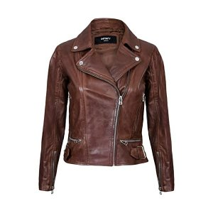 Womens Biker Brown Jacket