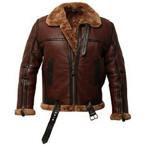 Aviator U.S Airforce Flight Shearling Brown Jacket