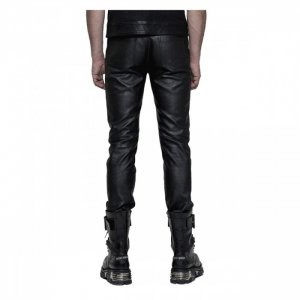 Mens Black Leather Pant