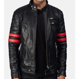mens-black-red-leather-biker-jacket