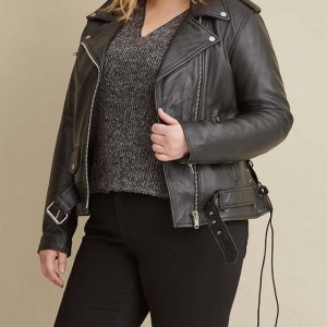 plus-size-black-biker-jacket