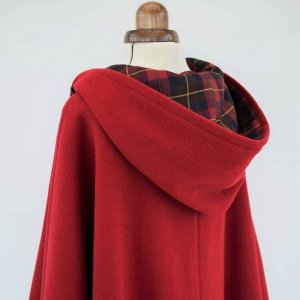 poncho-jacket-red-for-women