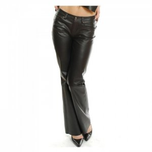stylish leather black pant