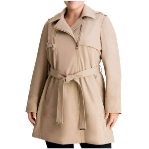 womens-plus-size-hooded-belted-trench-coats