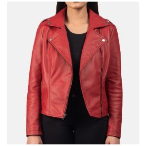 womens-red-leather-biker-jackets
