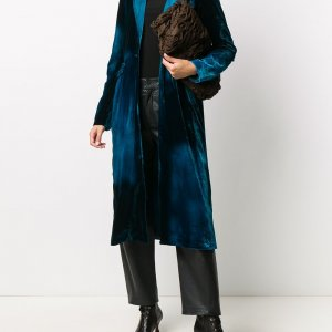 Blue Velvet Long Womens Coat