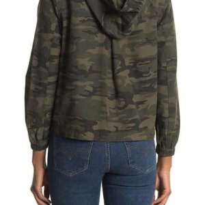 Womens Camo Hooded Jacket