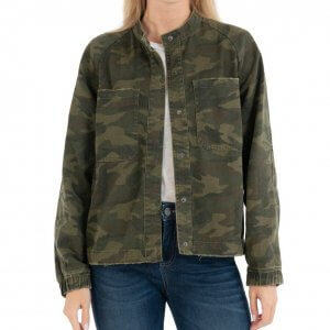 Womens Olive Bomber Jacket