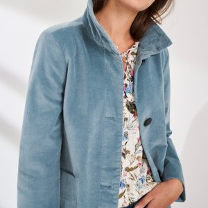 Velvet Light Blue Coat