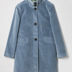 Kenley Light Blue Velvet Coat