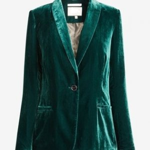 Vikar Green Velvet Womens Jacket